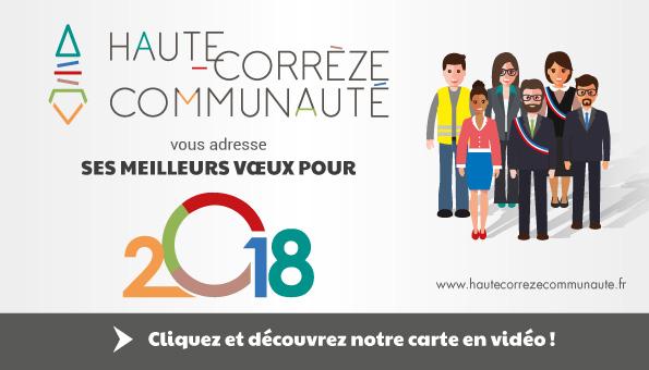 Haute Corrèze Communauté vous présente ses meilleurs vœux