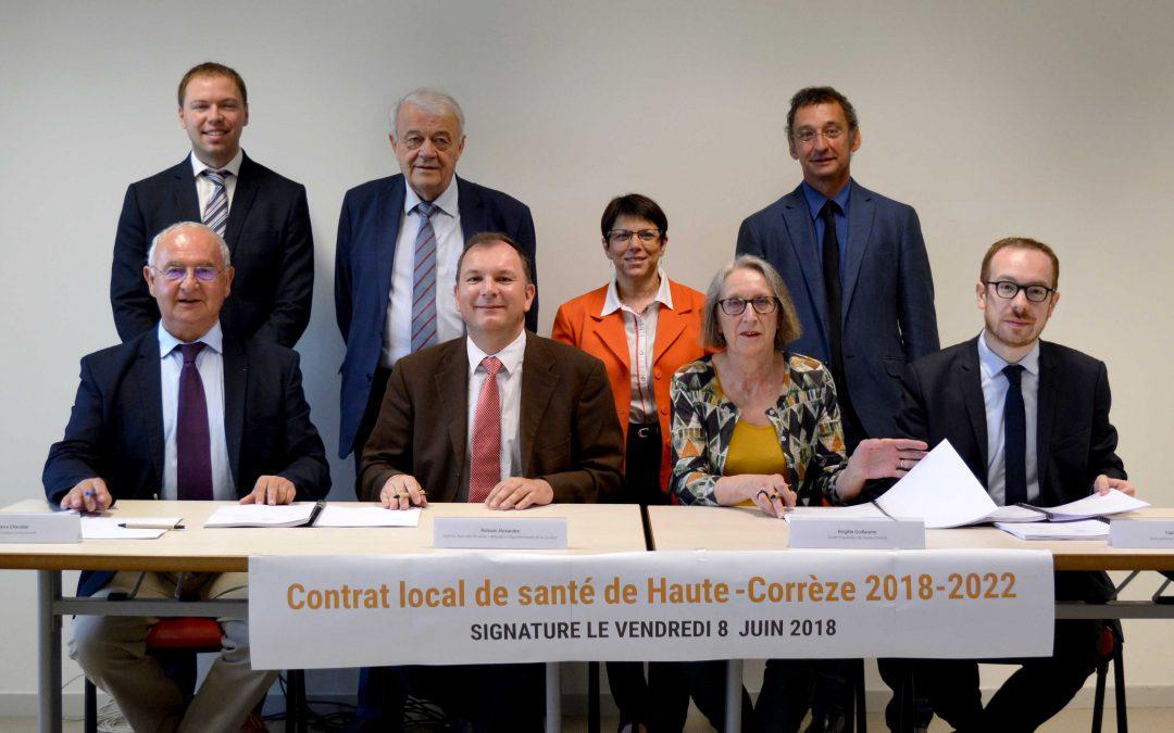 Signature du contrat local de santé de Haute-Corrèze