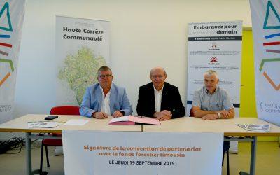 Signature d'une convention de partenariat avec le fond forestier limousin