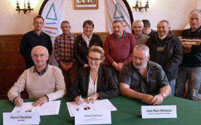 Signature du contrat Boost'ter avec le département de la Creuse