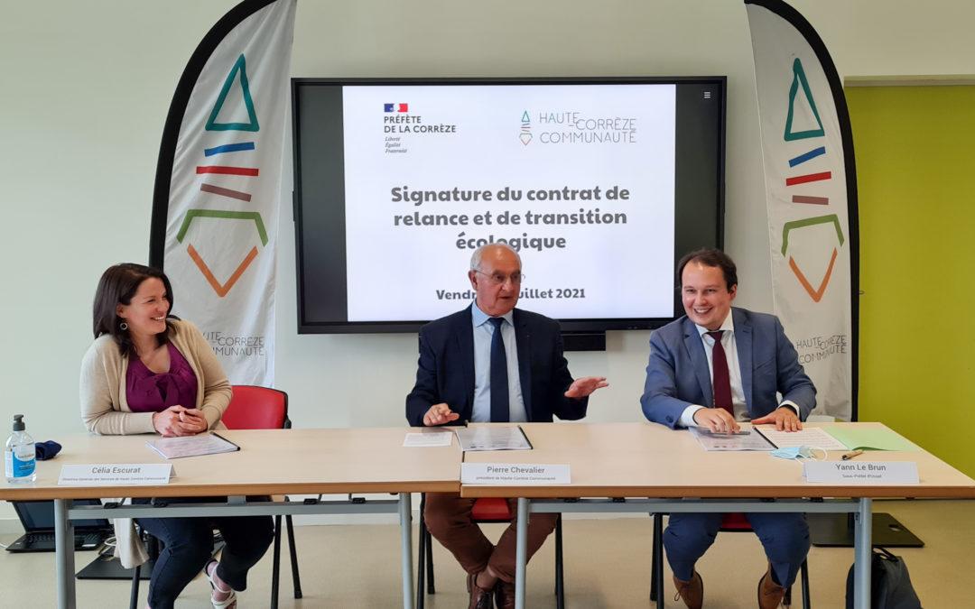 Signature du contrat de relance et de transition écologique