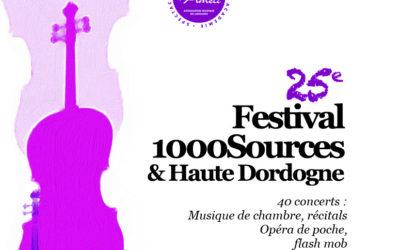 Festival 1000Sources & Dordogne : 25ème saison musicale itinérante